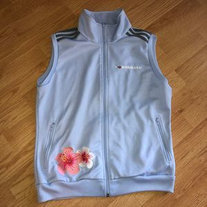Adidas I Love Honolulu Hibiscus Embroidered Vest L